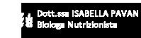 Dott.ssa Isabella Pavan - Biologa Nutrizionista